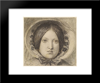Emma Hill: Modern Black Framed Art Print by Ford Madox Brown