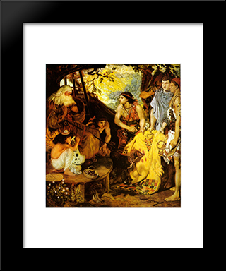 Jacob And Joseph'S Coat: Modern Black Framed Art Print by Ford Madox Brown