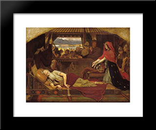 Lear And Cordelia: Modern Black Framed Art Print by Ford Madox Brown