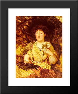 May Memories: Modern Black Framed Art Print by Ford Madox Brown