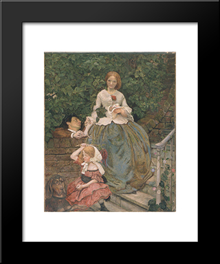 Stages Of Cruelty: Modern Black Framed Art Print by Ford Madox Brown
