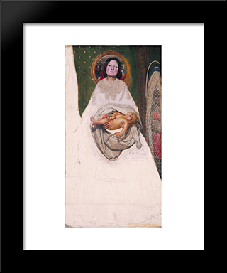 Take Your Son, Sir: Modern Black Framed Art Print by Ford Madox Brown
