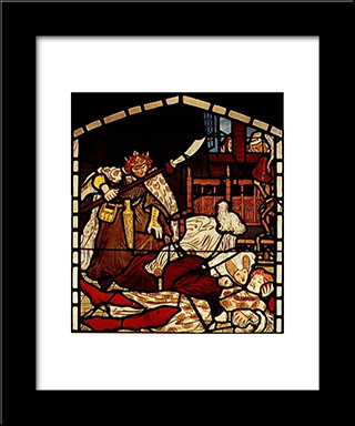 The Death Of Sir Tristan, From 'The Story Of Tristan And Isolde', William Morris & Co.: Modern Black Framed Art Print by Ford Madox Brown