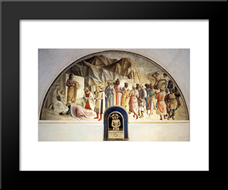 Adoration Of The Magi: Modern Black Framed Art Print by Fra Angelico