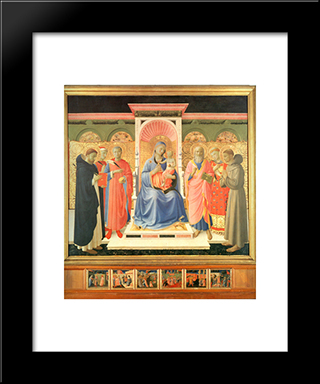 Annalena Altarpiece: Modern Black Framed Art Print by Fra Angelico