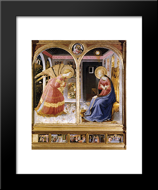 Annunciation: Modern Black Framed Art Print by Fra Angelico