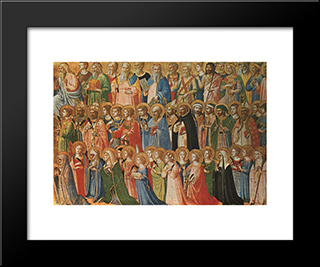 Christ Glorified In The Court Of Heaven: Modern Black Framed Art Print by Fra Angelico