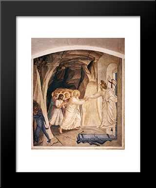 Christ In Limbo: Modern Black Framed Art Print by Fra Angelico