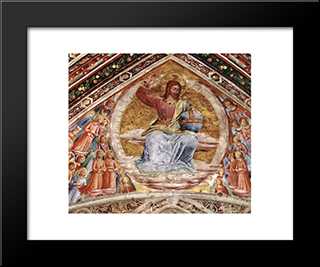 Christ The Judge: Modern Black Framed Art Print by Fra Angelico