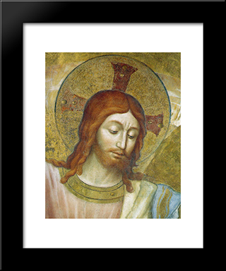 Christ The Judge (Detali): Modern Black Framed Art Print by Fra Angelico
