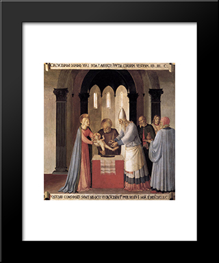 Circumcision: Modern Black Framed Art Print by Fra Angelico