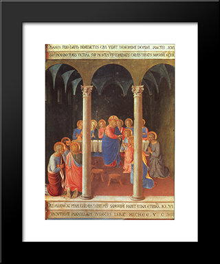 Communion Of The Apostles: Modern Black Framed Art Print by Fra Angelico
