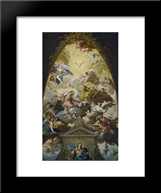 Asuncion De La Virgen: Modern Black Framed Art Print by Francisco Bayeu y Subias
