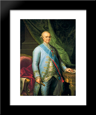 Carlos Iv: Modern Black Framed Art Print by Francisco Bayeu y Subias