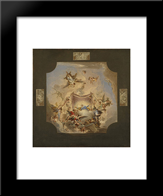 The Eternal Father: Modern Black Framed Art Print by Francisco Bayeu y Subias