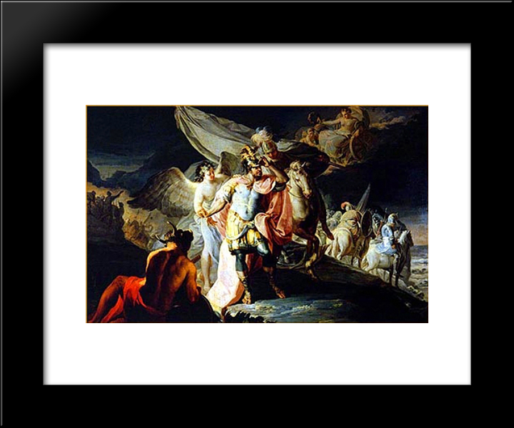 Hanibal Vencedor Contempla Italia Desde Los Alpes: Modern Black Framed Art Print by Francisco Goya