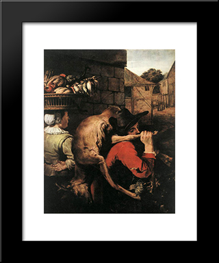 Return From The Hunt: Modern Black Framed Art Print by Frans Snyders