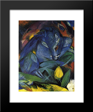Wild Pigs (Boar And Sow): Modern Black Framed Art Print by Franz Marc