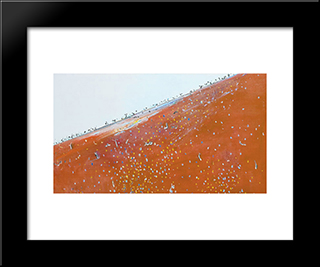 Iron Ore Landscape: Modern Black Framed Art Print by Fred Williams