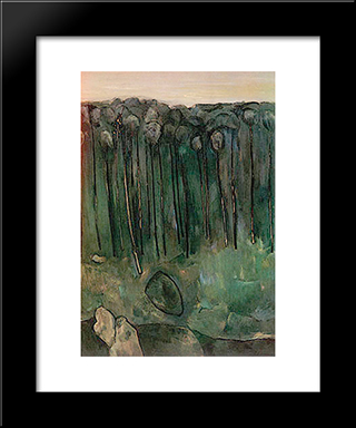 Sapling Forest: Modern Black Framed Art Print by Fred Williams