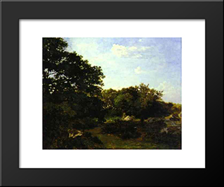 Forest Of Fontainebleau: Modern Black Framed Art Print by Frederic Bazille