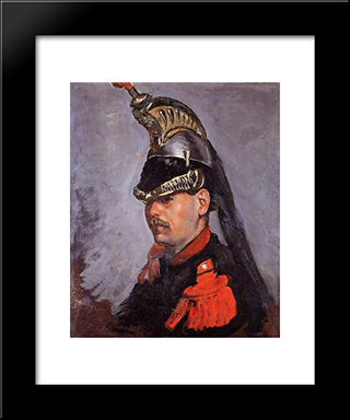 Portrait Of Alphonse Tissie: Modern Black Framed Art Print by Frederic Bazille
