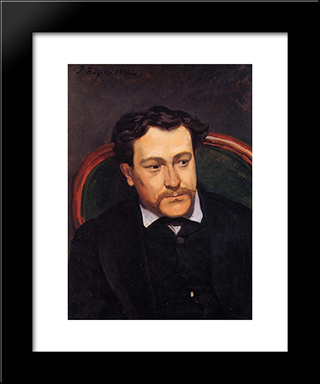 Portrait Of Edouard Blau: Modern Black Framed Art Print by Frederic Bazille