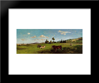Saint-Saveur: Modern Black Framed Art Print by Frederic Bazille