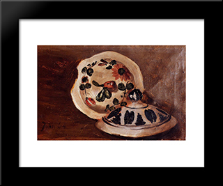 Soup Bowl Covers: Modern Black Framed Art Print by Frederic Bazille