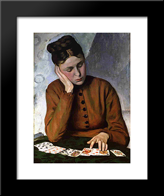 The Fortune Teller: Modern Black Framed Art Print by Frederic Bazille