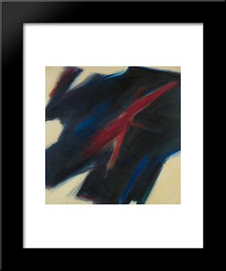 Untitled: Modern Black Framed Art Print by Frederic Matys Thursz