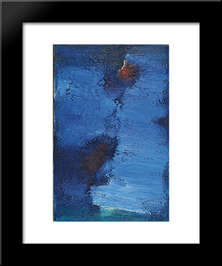 Untitled (Blue Field): Modern Black Framed Art Print by Frederic Matys Thursz