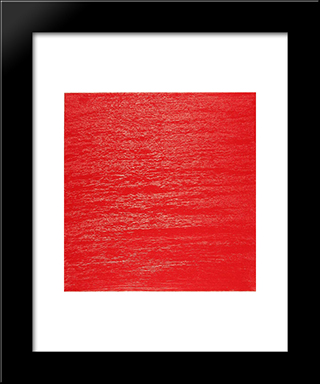 Vermillion Diary No. 4: Modern Black Framed Art Print by Frederic Matys Thursz