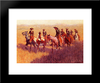 An Assault On His Dignity: Modern Black Framed Art Print by Frederic Remington