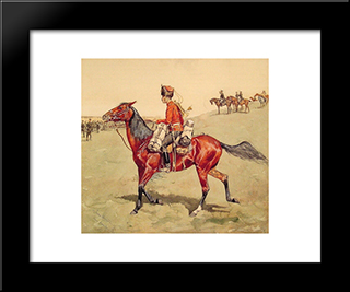 Hussar, Russian Guard Corps: Modern Black Framed Art Print by Frederic Remington