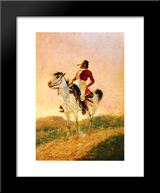 Modern Comanche: Modern Black Framed Art Print by Frederic Remington