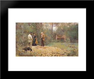 A Bush Burial: Modern Black Framed Art Print by Frederick McCubbin
