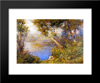 Golden Sunlight: Modern Black Framed Art Print by Frederick McCubbin