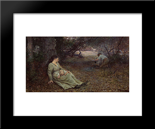 On The Wallaby Track: Modern Black Framed Art Print by Frederick McCubbin