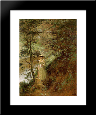 The Letter: Modern Black Framed Art Print by Frederick McCubbin