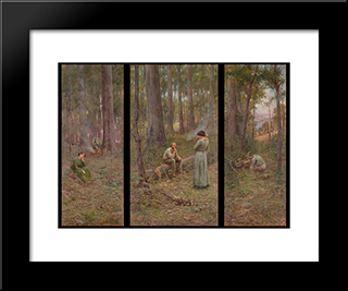 The Pioneer: Modern Black Framed Art Print by Frederick McCubbin
