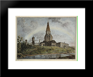 Kolomenskoe Village: Modern Black Framed Art Print by Fyodor Alekseyev