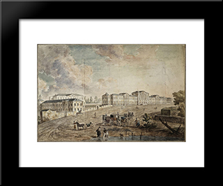 Military Hospital At Lefortovo: Modern Black Framed Art Print by Fyodor Alekseyev