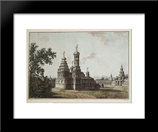 New Jerusalem Monastery: Modern Black Framed Art Print by Fyodor Alekseyev