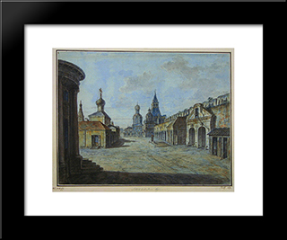 Novaya Square: Modern Black Framed Art Print by Fyodor Alekseyev