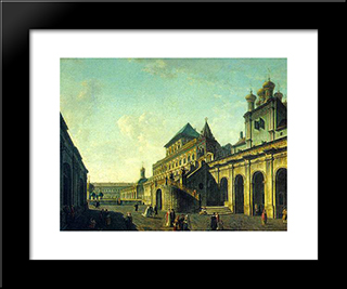 The Boyar'S Ground In The Moscow Kremlin: Modern Black Framed Art Print by Fyodor Alekseyev