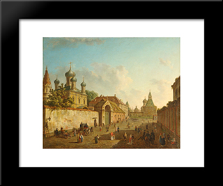 View Of Lubyanka: Modern Black Framed Art Print by Fyodor Alekseyev