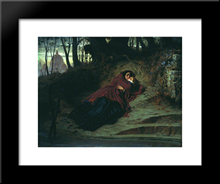 Abandoned: Modern Black Framed Art Print by Fyodor Bronnikov