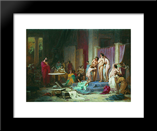 Apelles Chooses Nudes: Modern Black Framed Art Print by Fyodor Bronnikov