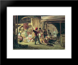Backstage Of The Circus: Modern Black Framed Art Print by Fyodor Bronnikov